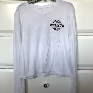 white hollister long sleeve size extra small